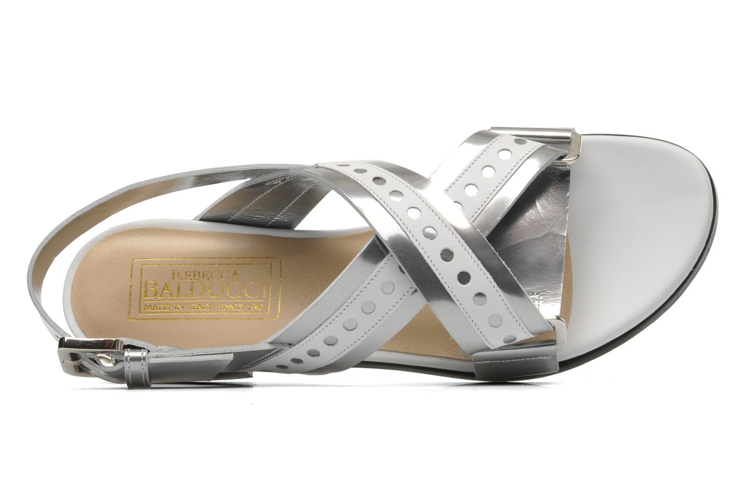 Sandals Rebecca Balducci Garda Silver view from the left