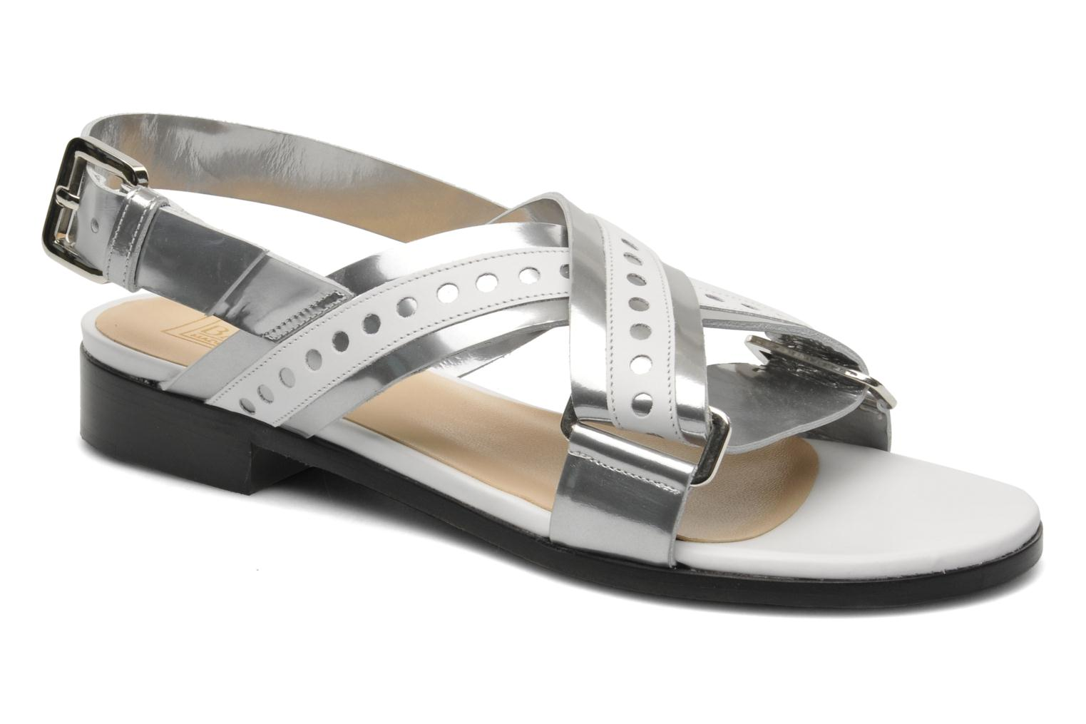 Sandals Rebecca Balducci Garda Silver detailed view/ Pair view