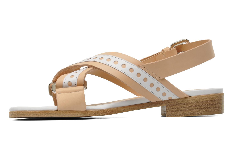 Sandals Rebecca Balducci Garda Beige front view