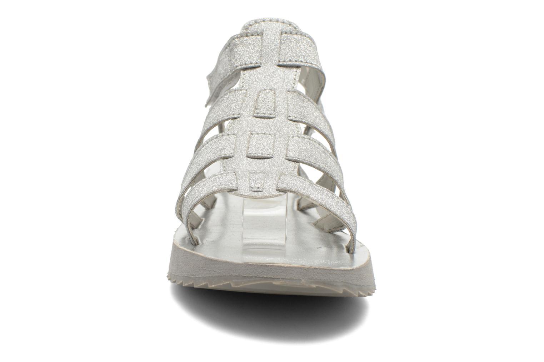 Sandalen Eleven paris Duse F silber schuhe getragen