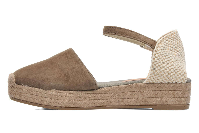 Sandales et nu-pieds Georgia Rose Inan Marron vue face