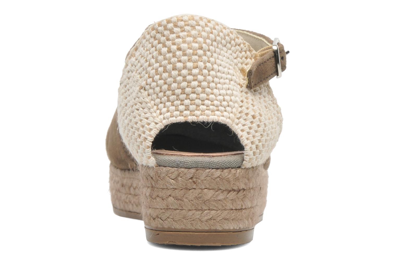 Sandales et nu-pieds Georgia Rose Inan Marron vue droite
