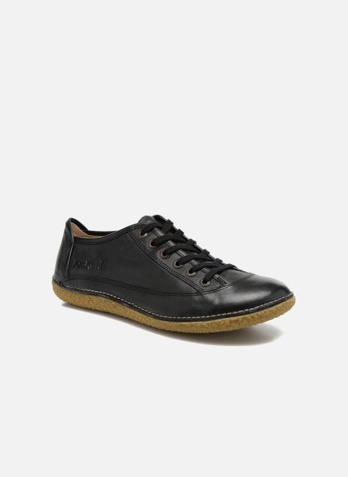 Zapatos con cordones Kickers Hollyday Negro vista de detalle / par
