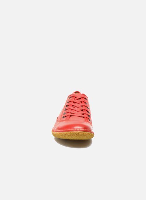 Zapatos con cordones Kickers Hollyday Rojo vista del modelo