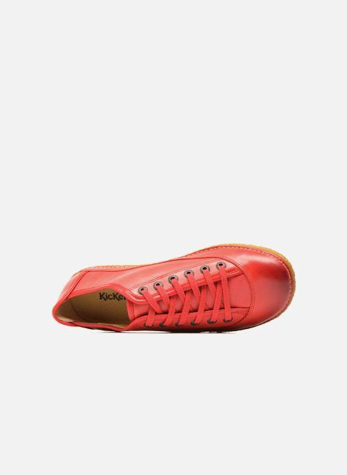 Zapatos con cordones Kickers Hollyday Rojo vista lateral izquierda