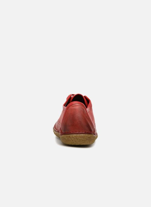 Chaussures à lacets Kickers Hollyday Rouge vue droite