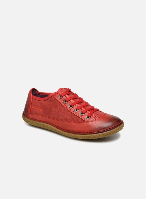 Snøresko Kickers Hollyday Rød detaljeret billede af skoene