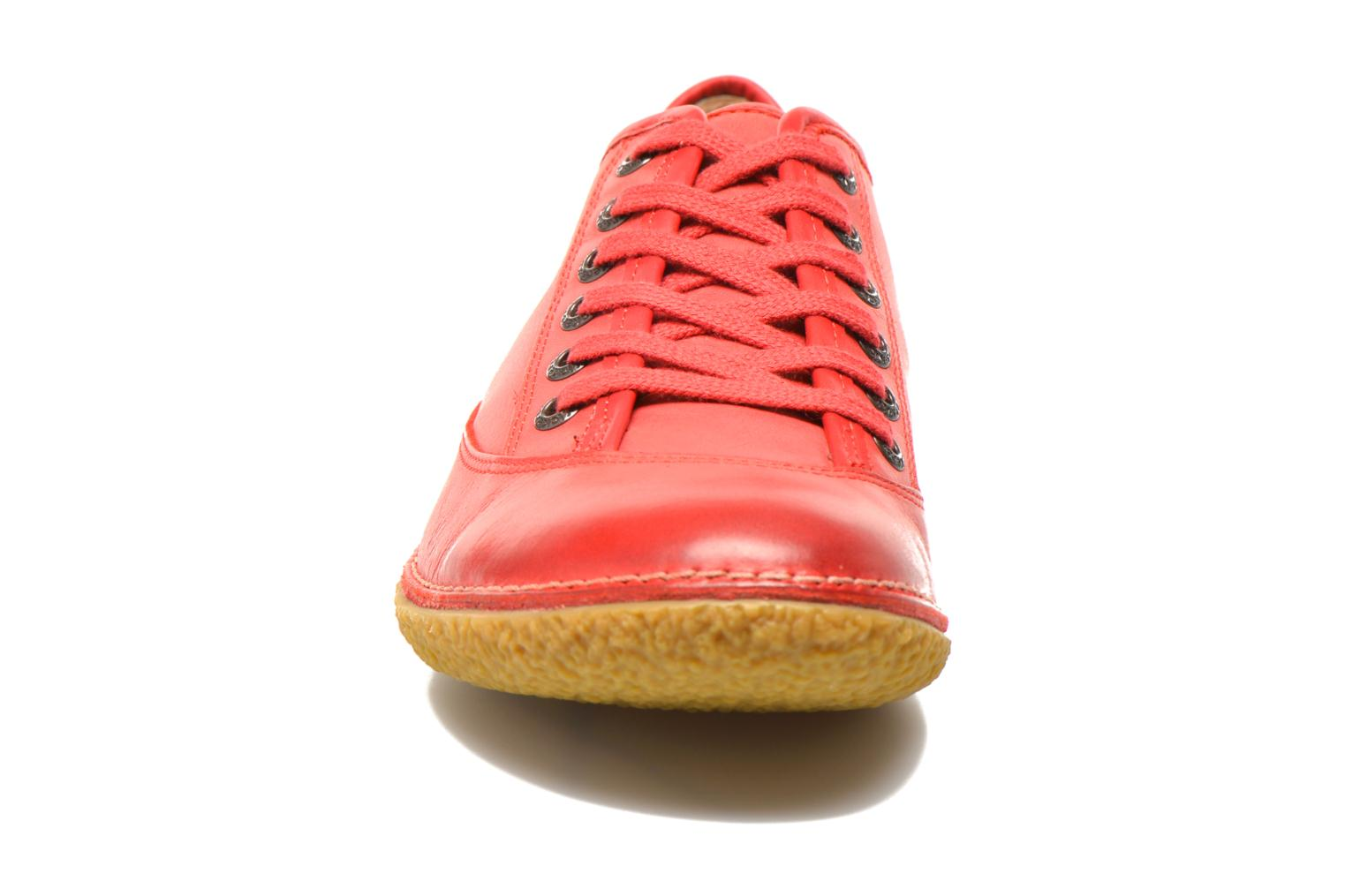 Chaussures à lacets Kickers Hollyday Rouge vue portées chaussures