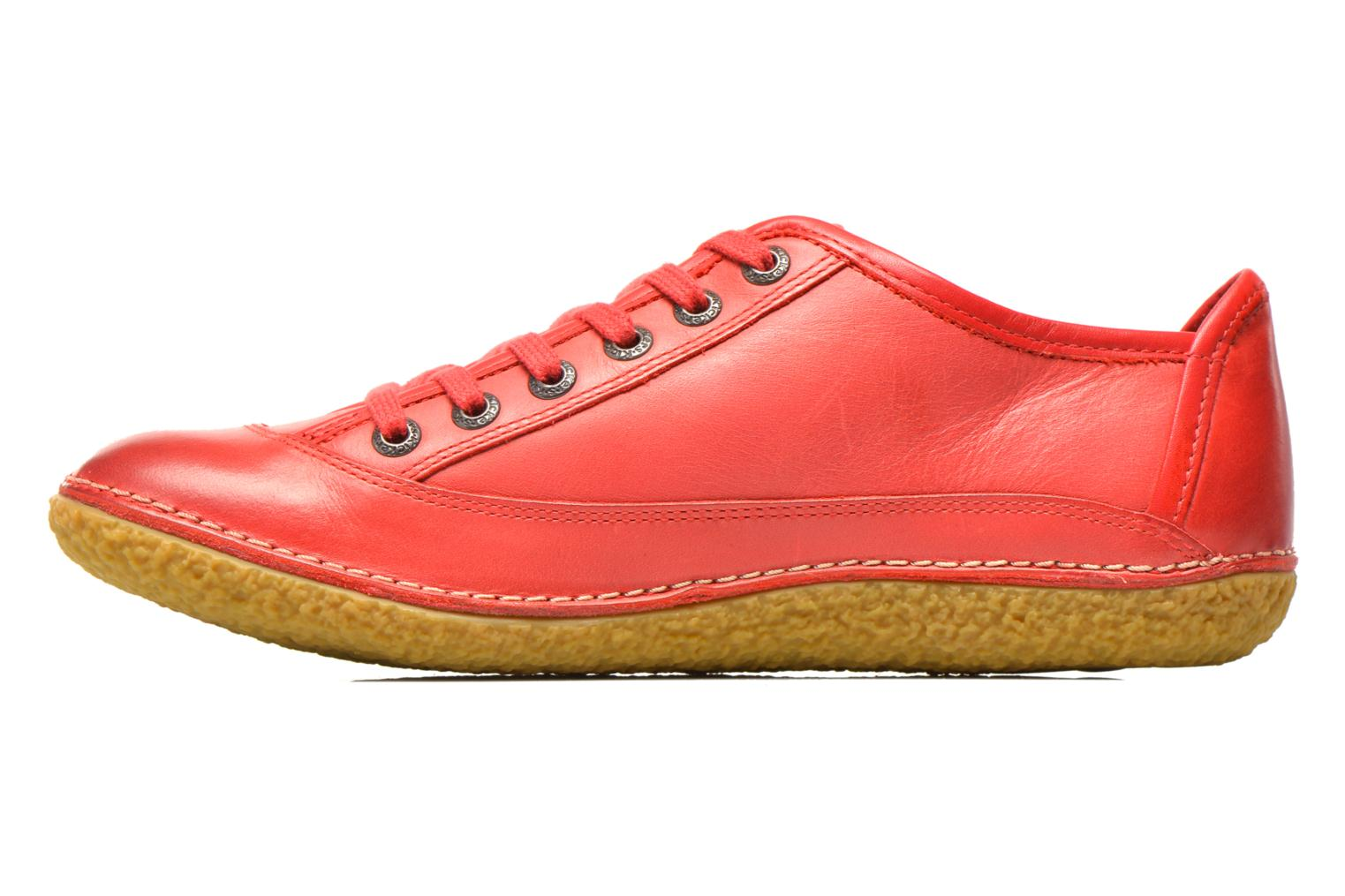 Chaussures à lacets Kickers Hollyday Rouge vue face
