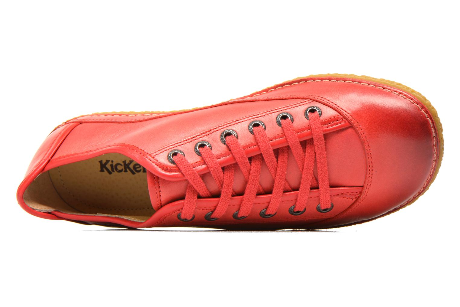 Chaussures à lacets Kickers Hollyday Rouge vue gauche