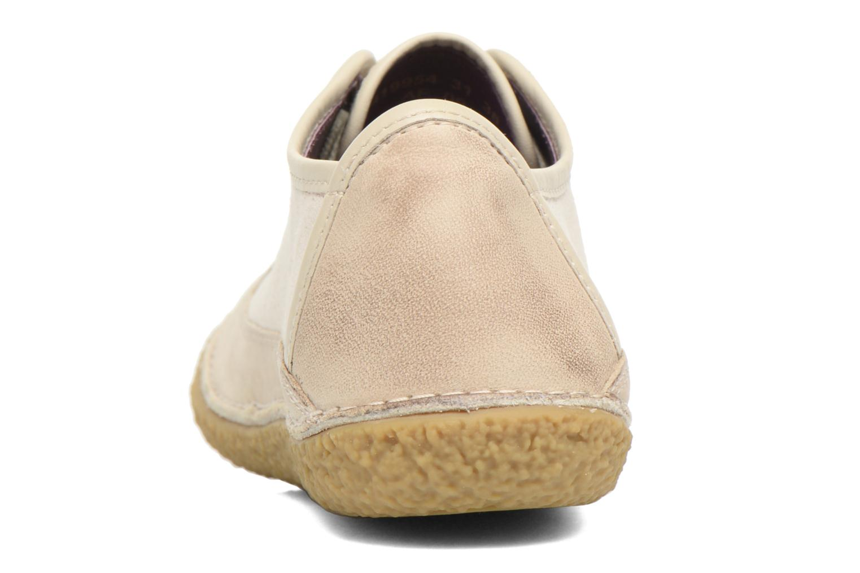 Chaussures à lacets Kickers Hollyday Blanc vue droite