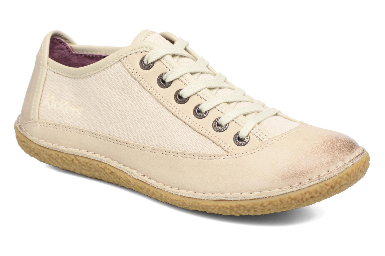 Chaussures à lacets Kickers Hollyday Blanc vue détail/paire