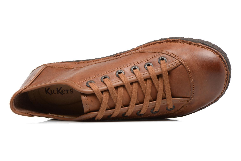 Chaussures à lacets Kickers Hollyday Marron vue gauche