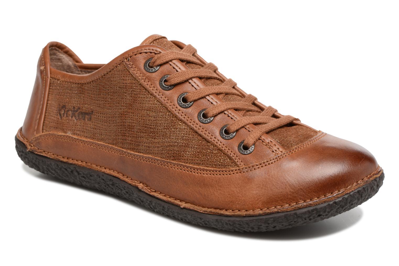 Snörade skor Kickers Hollyday Brun detaljerad bild på paret