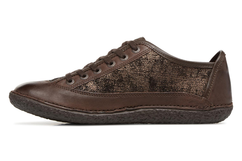 Chaussures à lacets Kickers Hollyday Marron vue face