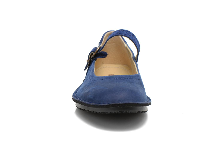 Ballerines Kickers Waggy Bleu vue portées chaussures