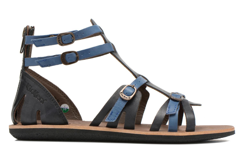 Sandales et nu-pieds Kickers Spartiaten Noir vue derrière