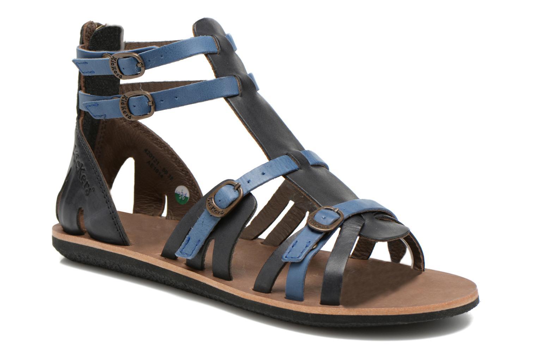Sandales et nu-pieds Kickers Spartiaten Noir vue détail/paire