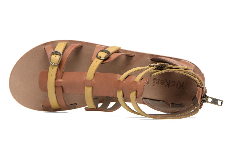 Sandales et nu-pieds Kickers Spartiaten Marron vue gauche