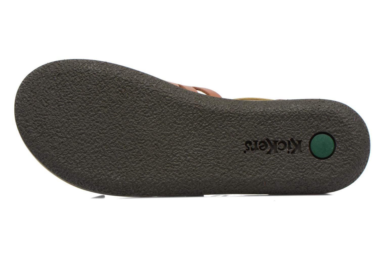 Sandales et nu-pieds Kickers Spartiaten Marron vue haut