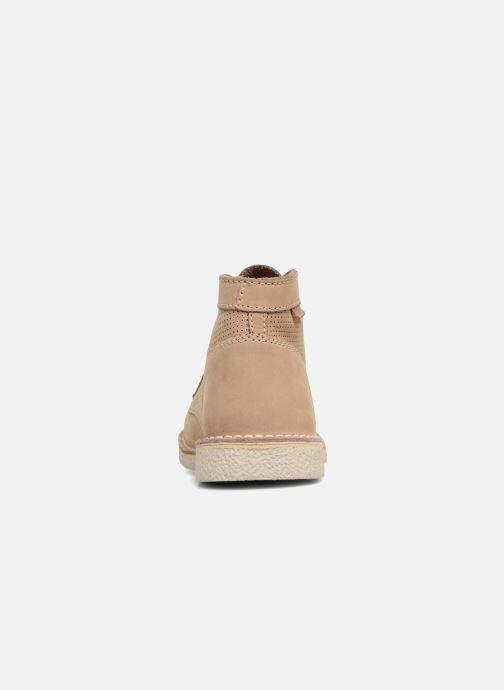 Chaussures à lacets Kickers Legendiknew Beige vue droite
