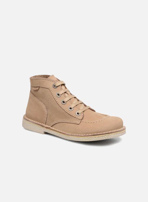 Chaussures à lacets Kickers Legendiknew Beige vue détail/paire