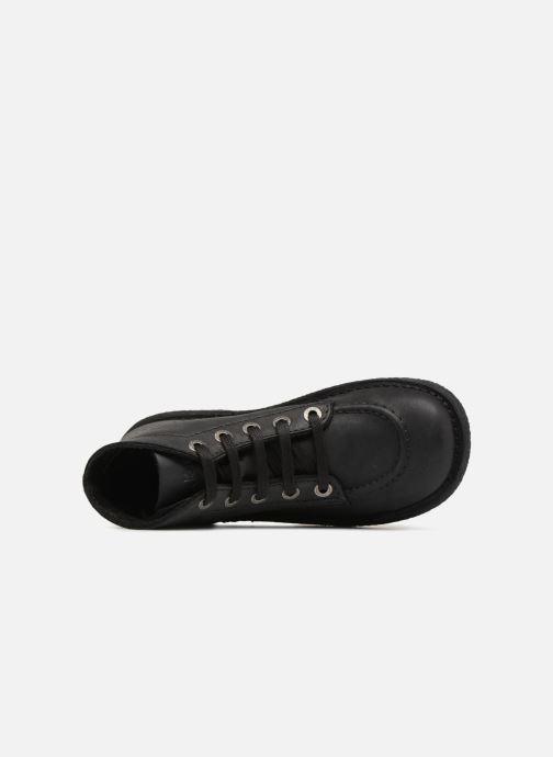 Scarpe con lacci Kickers Legendiknew Nero immagine sinistra