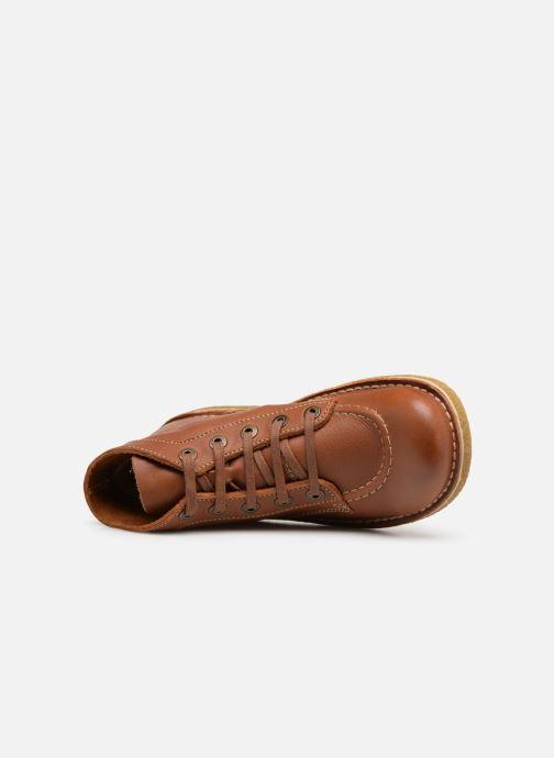 Scarpe con lacci Kickers Legendiknew Marrone immagine sinistra