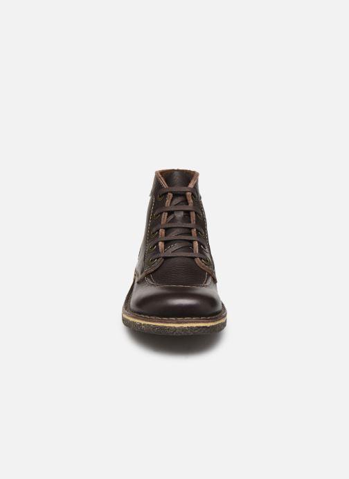 Zapatos con cordones Kickers Legendiknew Marrón vista del modelo