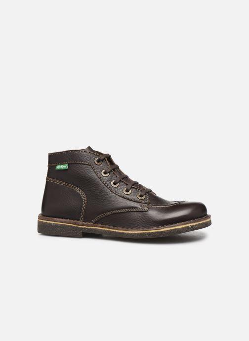Zapatos con cordones Kickers Legendiknew Marrón vistra trasera
