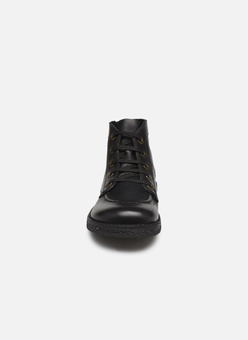 Schnürschuhe Kickers Legendiknew schwarz schuhe getragen