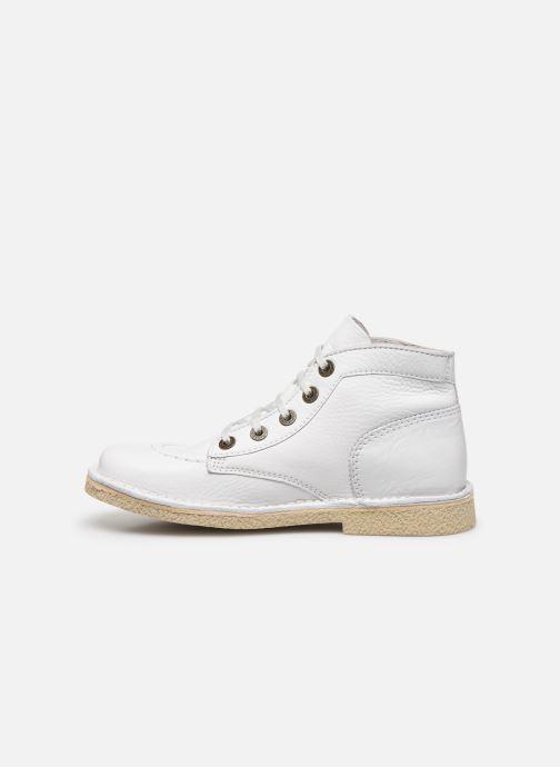 Zapatos con cordones Kickers Legendiknew Blanco vista de frente