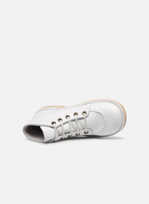 Zapatos con cordones Kickers Legendiknew Blanco vista lateral izquierda
