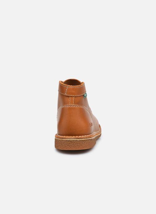 Zapatos con cordones Kickers Legendiknew Marrón vista lateral derecha