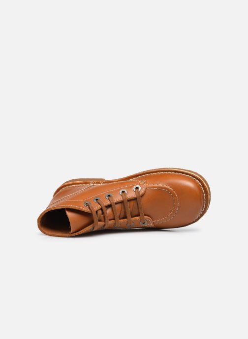 Zapatos con cordones Kickers Legendiknew Marrón vista lateral izquierda