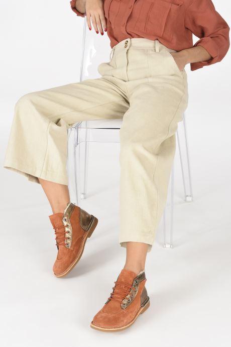 Chaussures à lacets Kickers Legendiknew Orange vue bas / vue portée sac