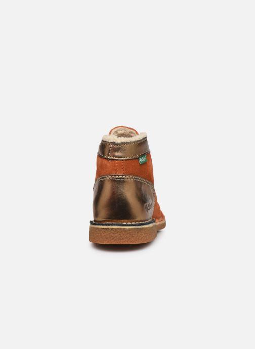 Chaussures à lacets Kickers Legendiknew Orange vue droite