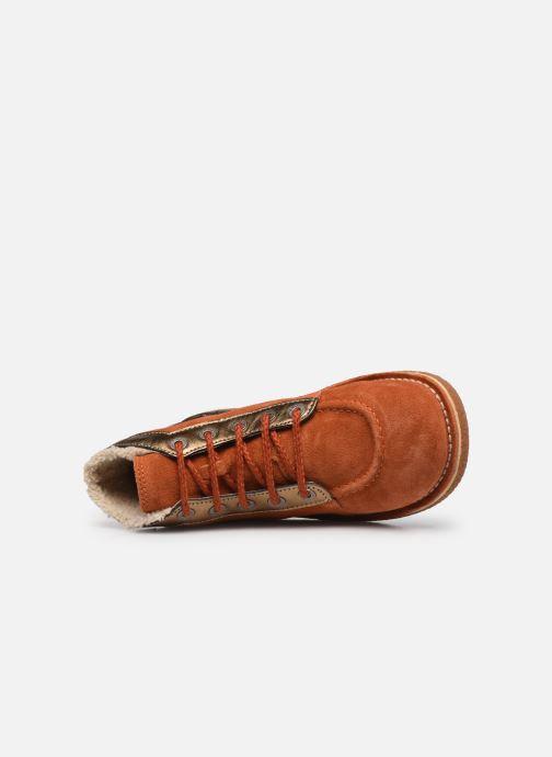Chaussures à lacets Kickers Legendiknew Orange vue gauche