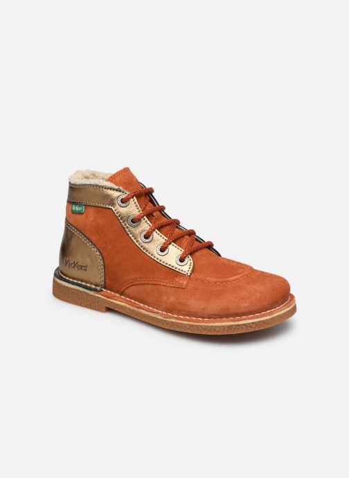 Chaussures à lacets Kickers Legendiknew Orange vue détail/paire