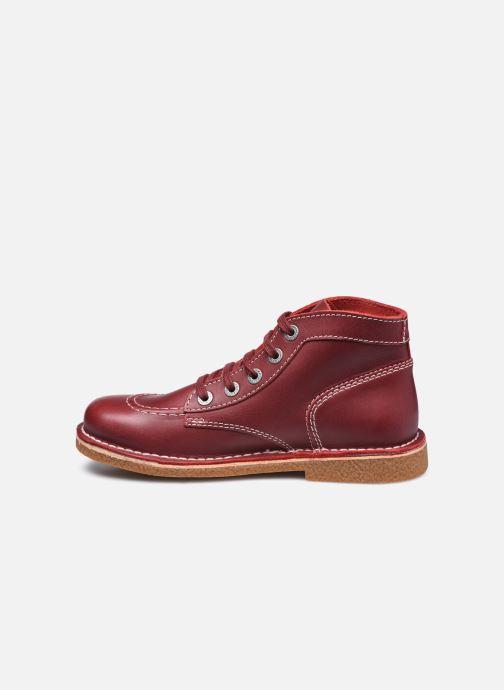 Chaussures à lacets Kickers Legendiknew Rouge vue face