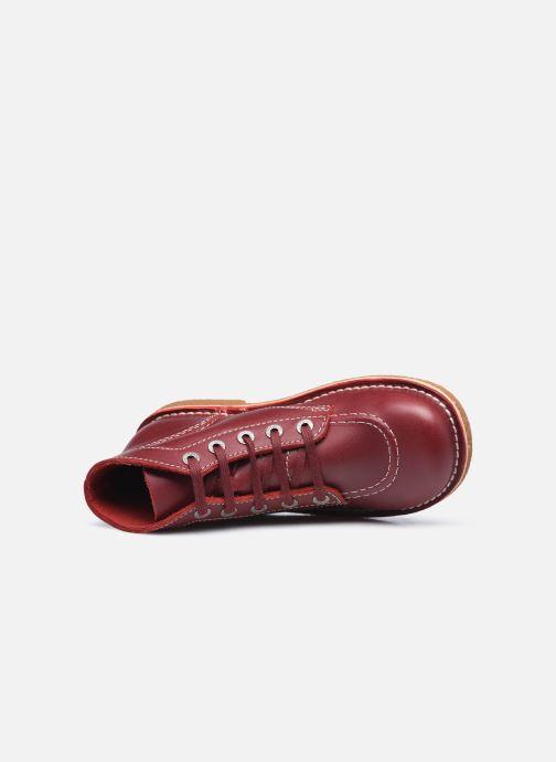 Scarpe con lacci Kickers Legendiknew Rosso immagine sinistra