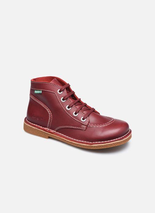 Chaussures à lacets Kickers Legendiknew Rouge vue détail/paire