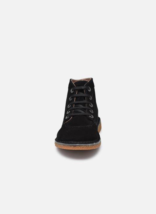 Zapatos con cordones Kickers Legendiknew Negro vista del modelo