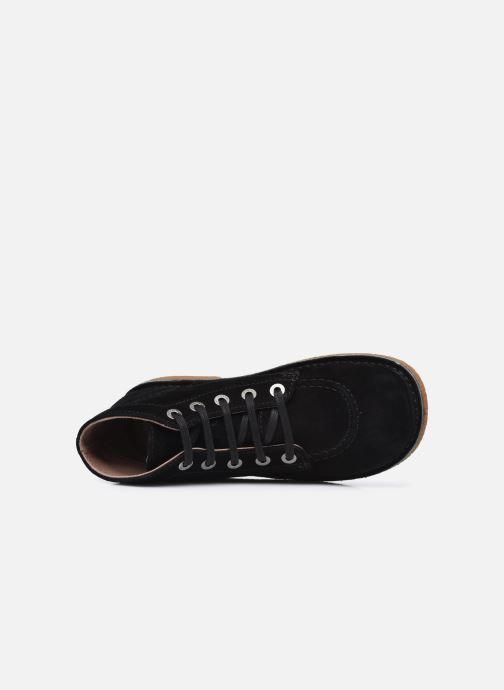 Zapatos con cordones Kickers Legendiknew Negro vista lateral izquierda