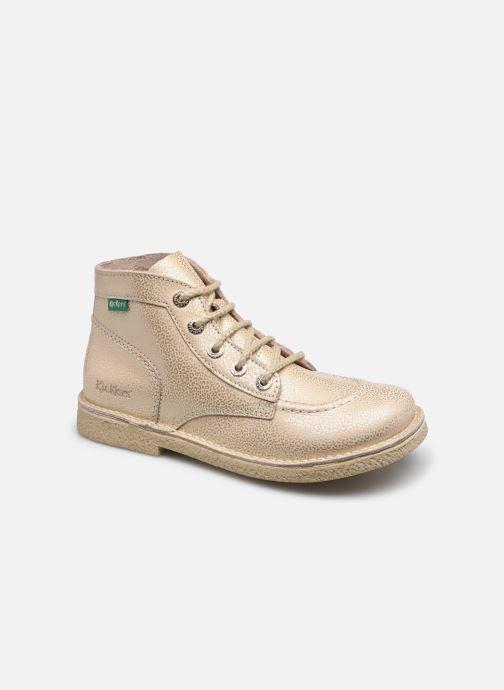 Zapatos con cordones Kickers Legendiknew Oro y bronce vista de detalle / par