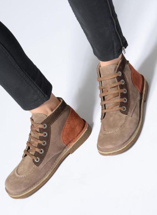 Chaussures à lacets Kickers Legendoknew Marron vue bas / vue portée sac