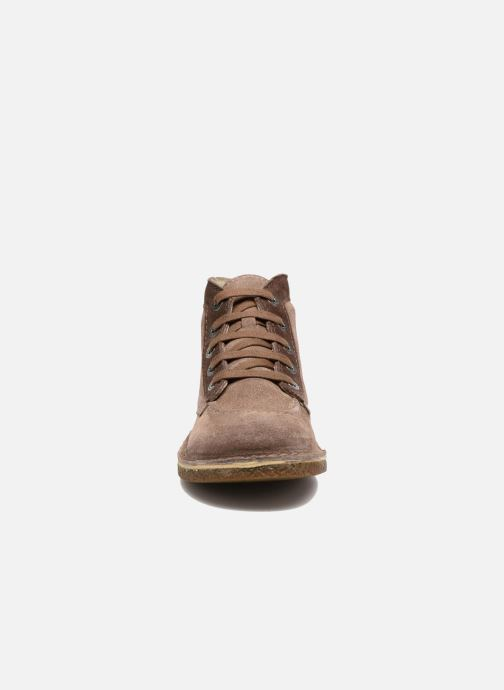 Chaussures à lacets Kickers Legendoknew Marron vue portées chaussures