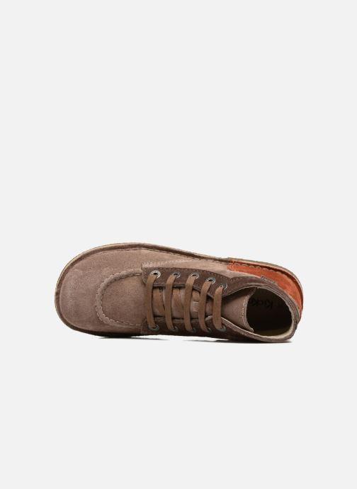 Chaussures à lacets Kickers Legendoknew Marron vue gauche
