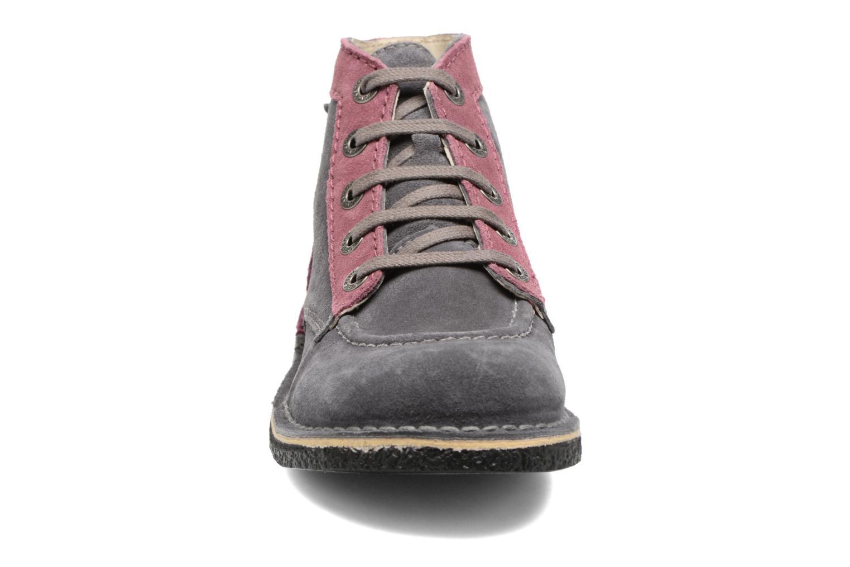 Zapatos con cordones Kickers Legendoknew Gris vista del modelo