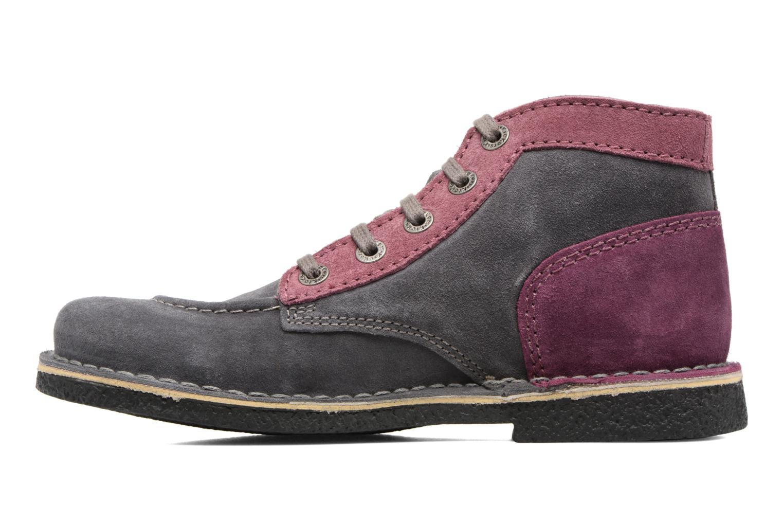 Zapatos con cordones Kickers Legendoknew Gris vista de frente